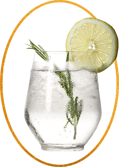 Image of a full-flavor cocktail made with tounge-tantalizing Benham's Gin